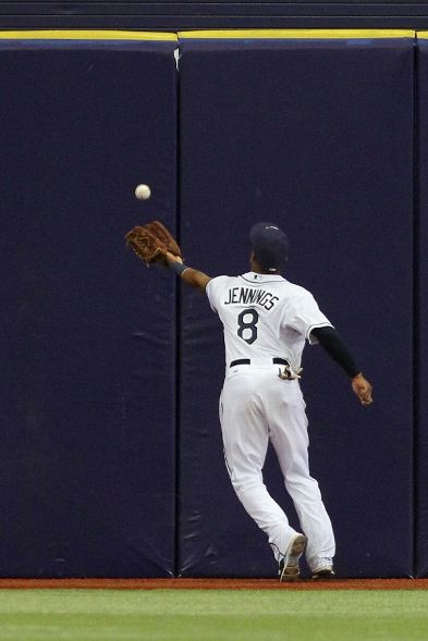 Click the photo to be redirected to video of Desmond Jennings' outstanding ninth inning  catch.