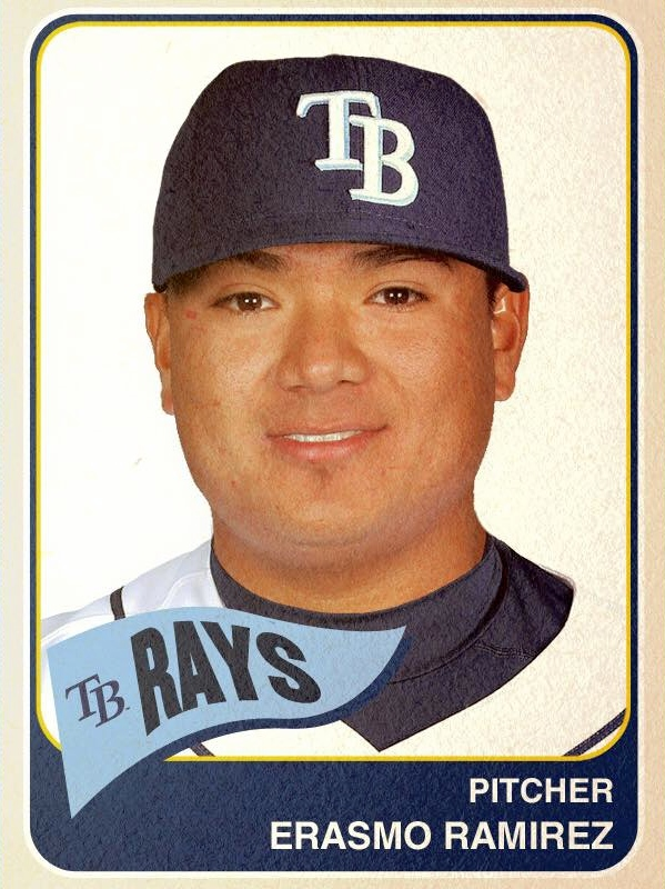 Player card courtesy of the Tampa Bay Rays