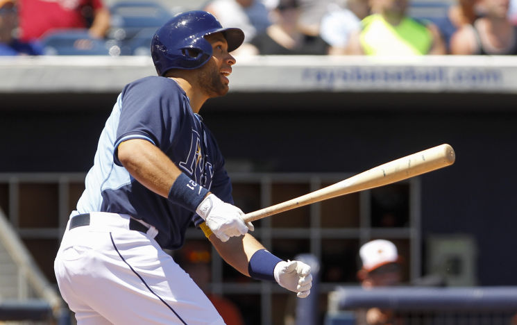 Rays first baseman James Loney. (Will Vragovic/Tampa Bay Times)