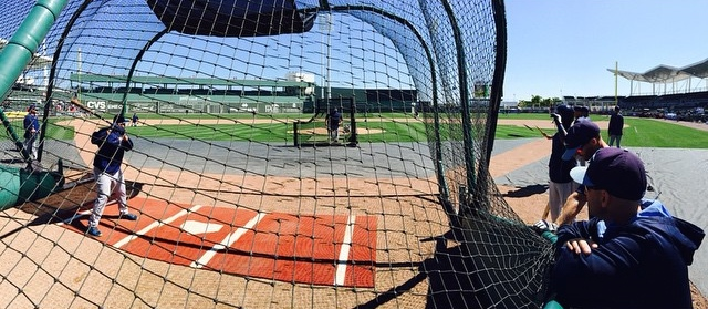 The Tampa Bay Rays took early batting practice at Jet Blue Park in Ft. Myers on Sunday. (Photo courtesy of the Tampa Bay Rays)
