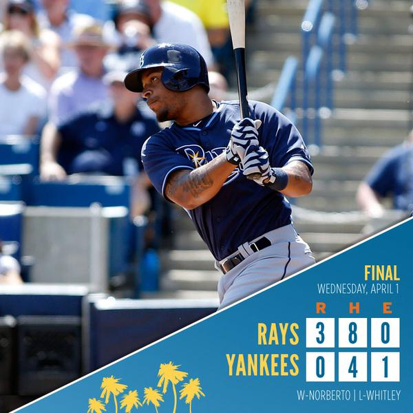 The Tampa Bay Rays borne photo box score says it all.