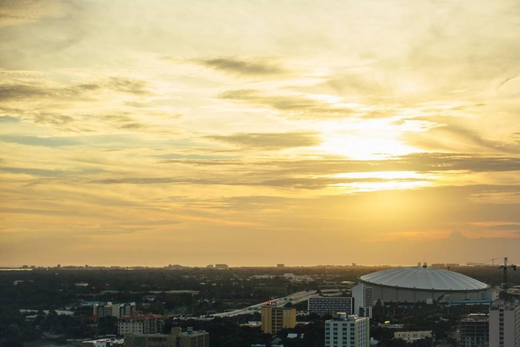 Looking west to Tropicana Field. (Photo Credit: Mayor Rick Kriseman)